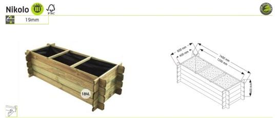 madeta de 3 huerto urbano