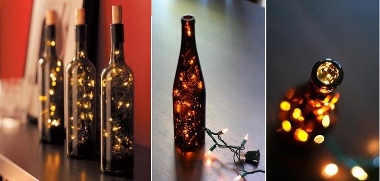 Reutiliza como una botella de vidrio o cristal se - Botellas con luces ...