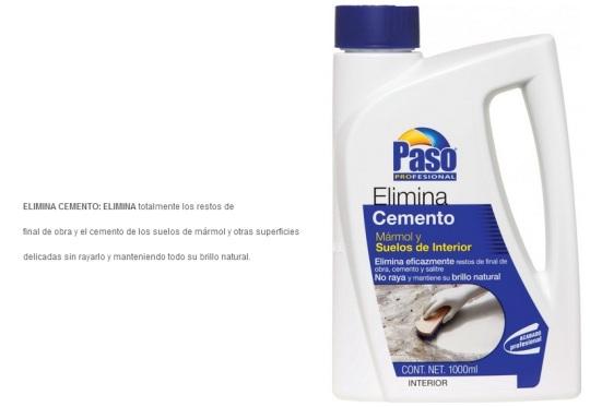 Elimina Cemento Paso para mármol