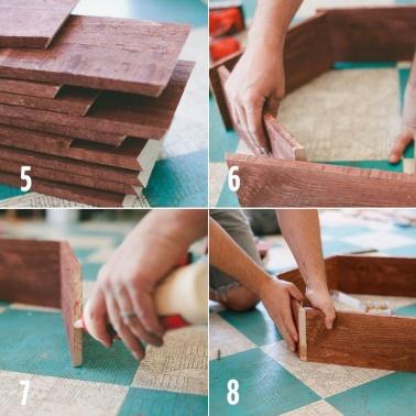 paso 2 panal de madera