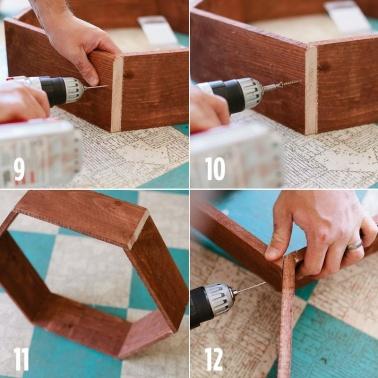 paso 3 panal de madera estante