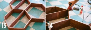 paso 4 panal de madera estante