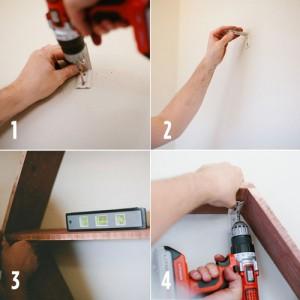 paso 5 panal de madera estante
