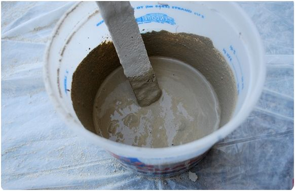 Proyectos para el fin de semana portavelas de cemento - Como mezclar cemento ...