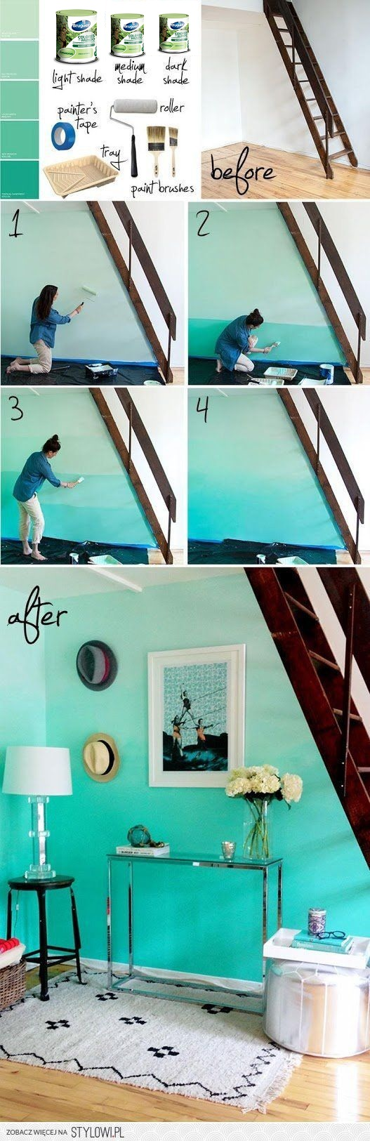 Decora tus paredes con colores y efectos degradados hoy - Mezclar colores para pintar paredes ...