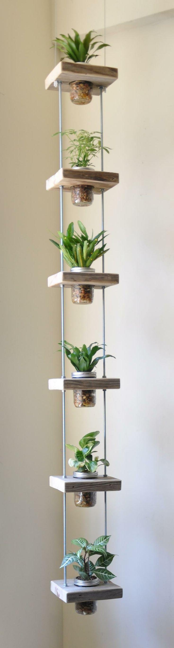 Peque os jardines verticales c mo hacer uno con - Comprar tarros de cristal pequenos ...