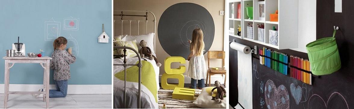 Dale un toque creativo a tu casa con pintura de pizarra - Pintura pared pizarra ...