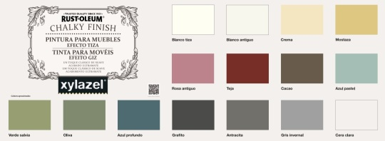 carta colores chalky finish
